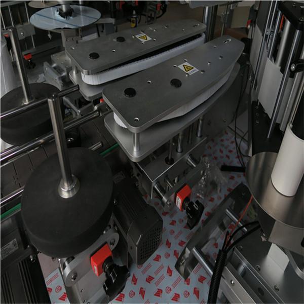 Etiqueta engomada de la máquina de etiquetado delantera y trasera en botella ovalada / rectangular / cuadrada / redonda