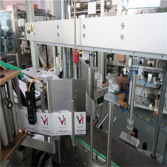 Máquina de etiquetado de botellas cuadradas de bebidas Etiquetadora de etiquetas adhesivas de doble cara