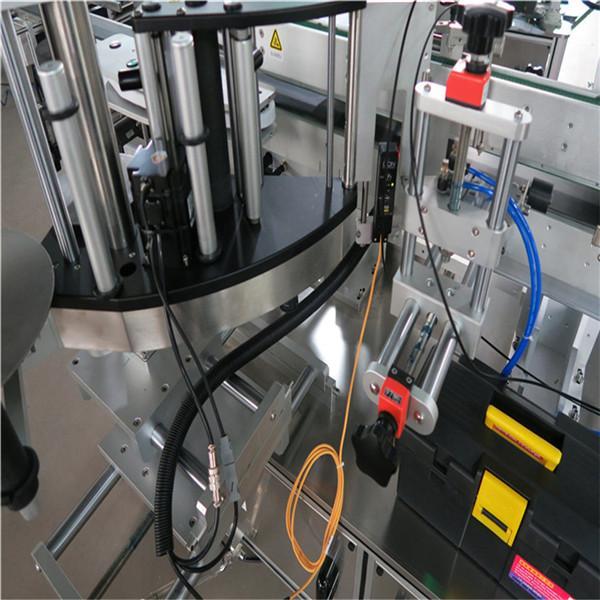 Máquina de etiquetado de botellas cuadradas, etiquetadora de etiquetas adhesivas de doble cara