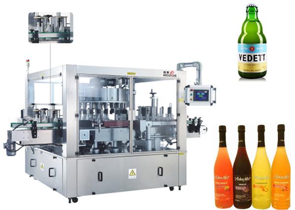 Ubicación de tres caras aMáquina rotativa de etiquetado de etiquetas autoadhesivas Maquinaria del sistema rotativo