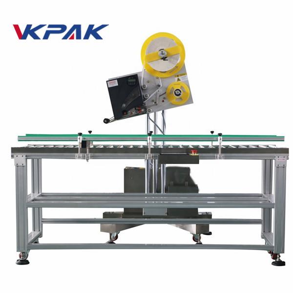 Aplicador industrial de etiquetas de sobre automático para caja de papel de producción a pequeña escala