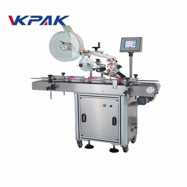 Máquina aplicadora automática de etiquetas de superficie plana para bolsas