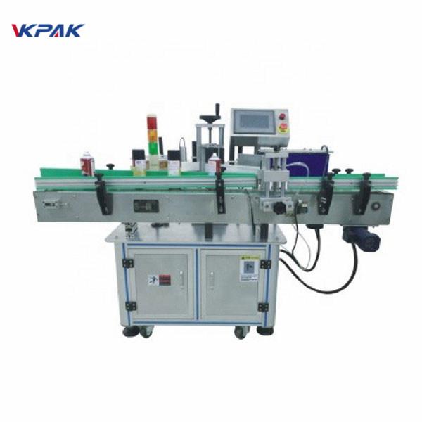 Máquina aplicadora de etiquetas automática con etiqueta autoadhesiva de placa giratoria