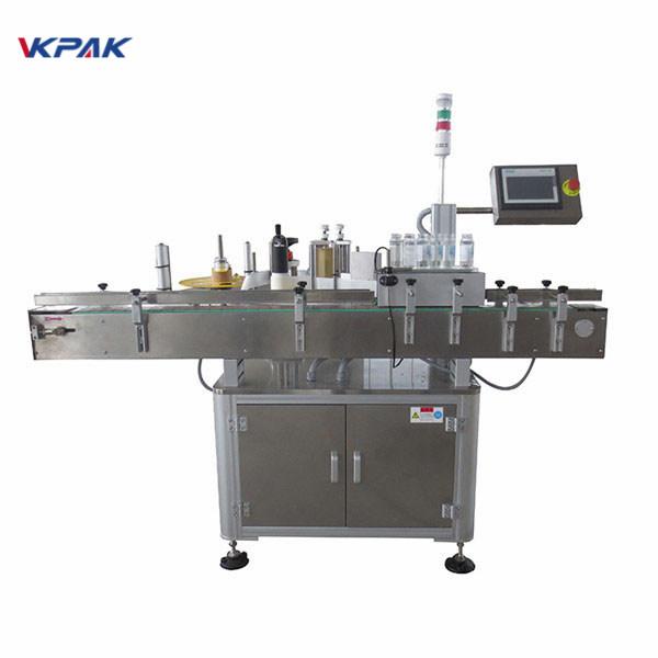 Máquina automática aplicadora de etiquetas adhesivas para botella de cerveza 220V 1.5H