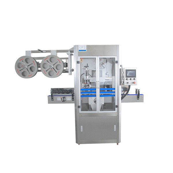 Máquina aplicadora de manga retráctil de acero inoxidable con sellado de tapas con generador de vapor