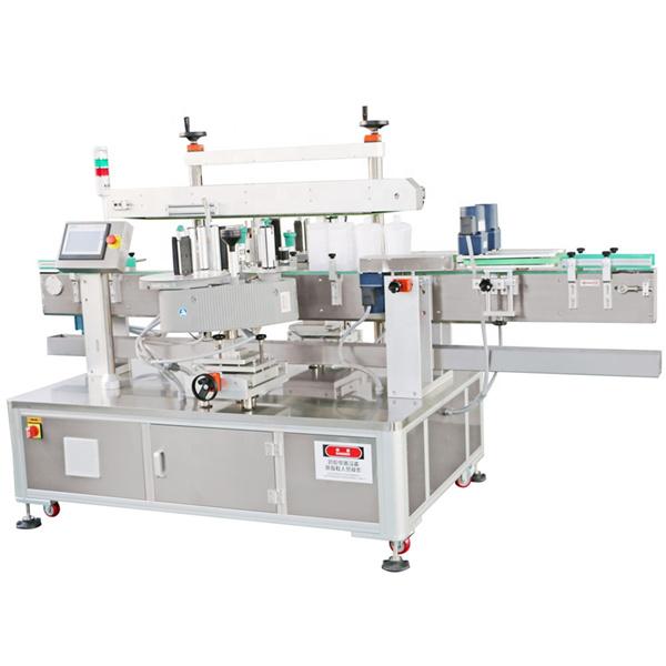 Máquina de etiquetado frontal y posterior detergente aplicador de etiquetas de botella de aceite de máquina