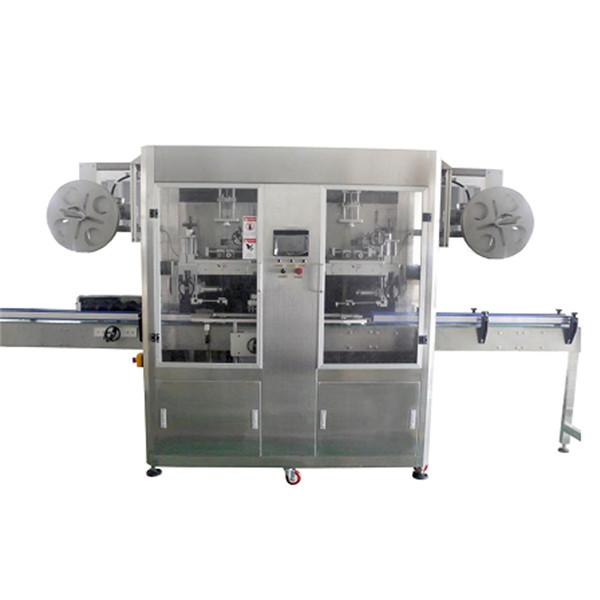 Máquina de etiquetado de la manga del encogimiento del acero inoxidable de la botella del ANIMAL DOMÉSTICO para el diverso CE de las botellas