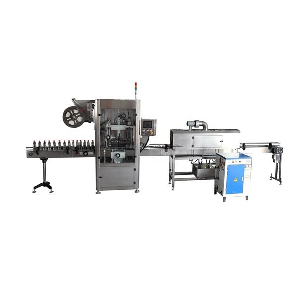 Máquina aplicadora de etiquetas de manga retráctil inoxidable funcional PET