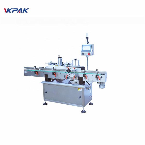 Máquina aplicadora de etiquetas de superficie plana con pegamento frío de botella redonda