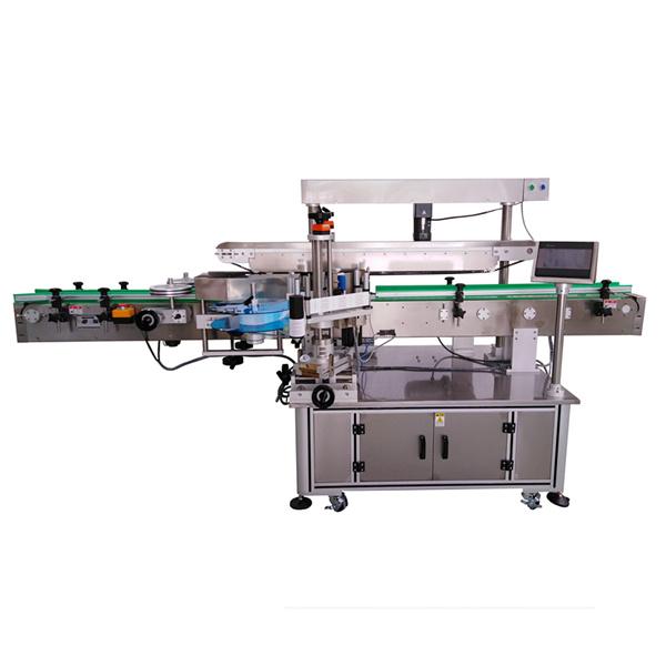Máquina etiquetadora autoadhesiva de tres etiquetas