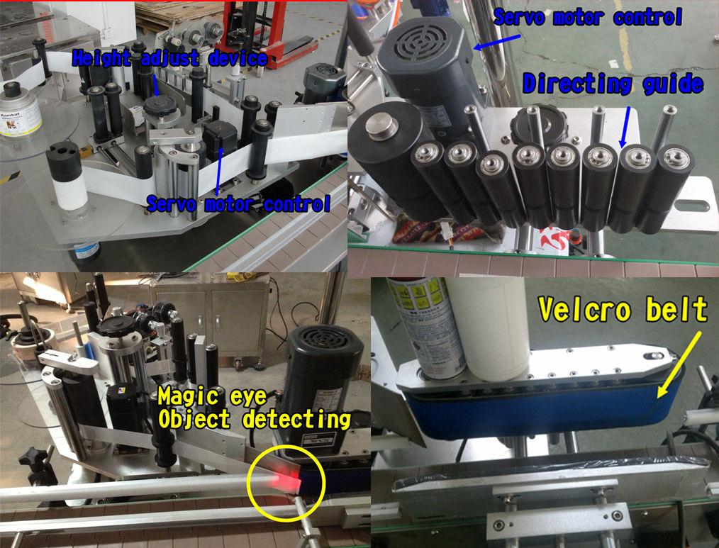 Etiqueta de botella cosmética Etiquetado de botellas redondas / Máquina de etiquetado autoadhesivo