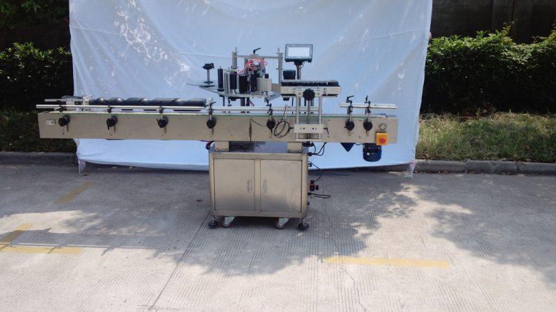 China Máquina automática de etiquetado de botellas redondas para pegamento no seco, caja de madera / máquina de etiquetado de embalaje de exportación para proveedor CE