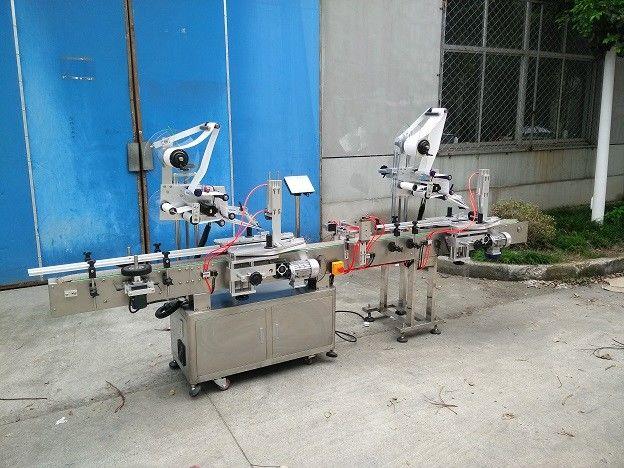 Aplicador de etiquetas de superficie plana de 20-200 mm de ancho con etiquetadora lateral superior y posterior