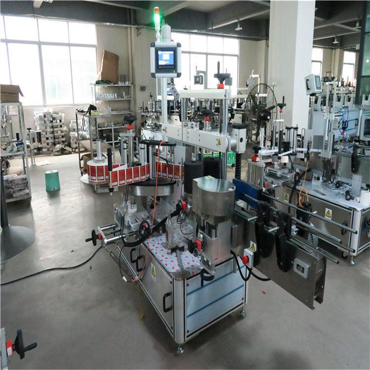 Lado de alta velocidad de la máquina de etiquetado de la botella plana dos para los cosméticos / las bebidas