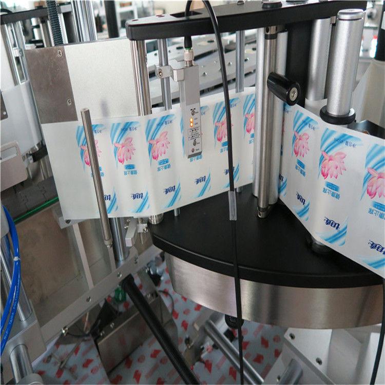 Etiquetadora automática de etiquetas adhesivas de botellas redondas hexagonales de lado simple / doble