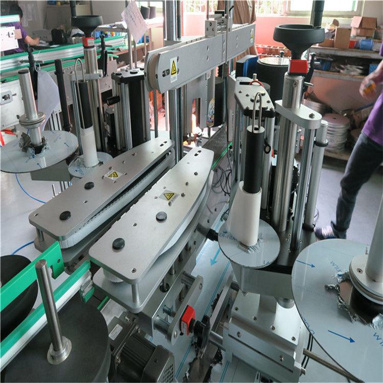 Máquina de etiquetado frontal y posterior de botellas de agua