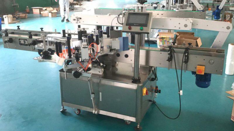 Aplicador de etiquetas de lados delanteros y traseros de China con mecanismo de corrección, proveedor de máquinas de etiquetas adhesivas