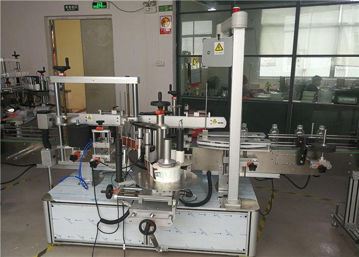 Anverso / reverso en equipos de etiquetado de botellas planas o no redondas