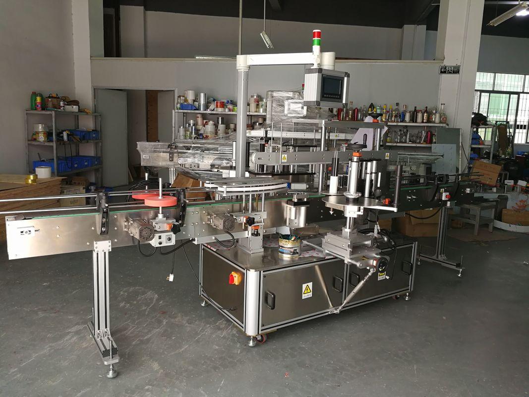 Máquina de etiquetado de botellas planas multifunción de alta precisión accionada eléctricamente