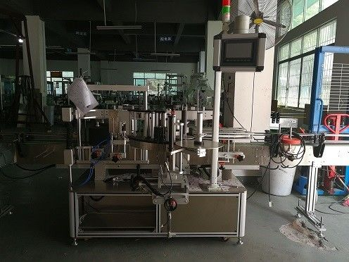 China Máquina de etiquetado de botellas de plástico de doble cara / proveedor automático de etiquetadoras de botellas