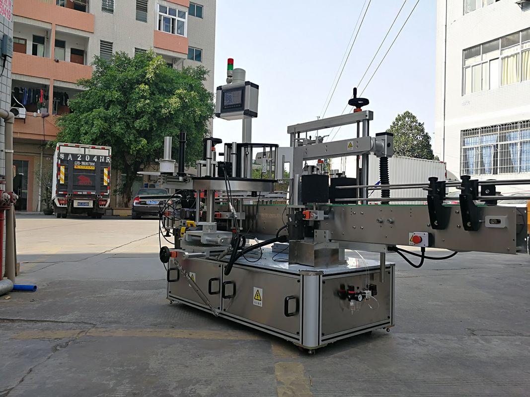 Máquina aplicadora automática de etiquetas de botellas cuadradas de tres lados de alta velocidad